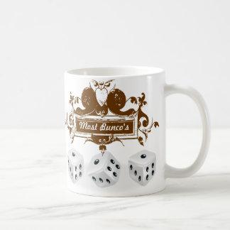 bunco game design classic white coffee mug