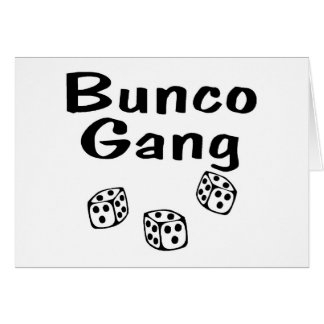 Bunco Gang Card