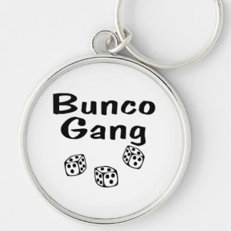 Bunco Gang Silver-Colored Round Keychain