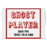 bunco ghost player greeting card