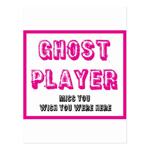 bunco ghost player post cards