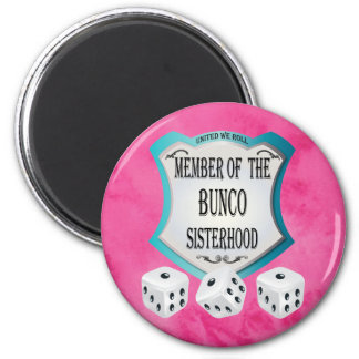 Bunco Go Pink - United We Roll The Dice Magnet