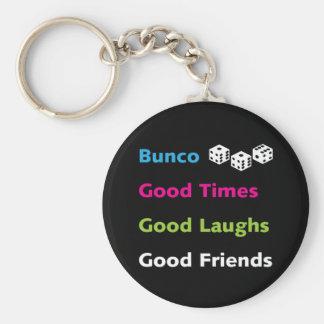 bunco good friends #2 basic round button keychain