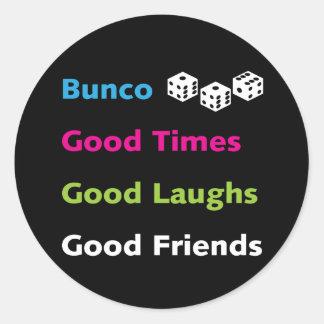 bunco good friends #2 classic round sticker
