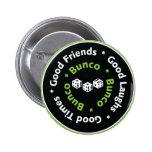 bunco good friends 2 inch round button