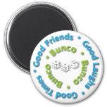 bunco good friends 2 inch round magnet