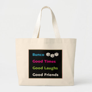 bunco good friends #2 large tote bag