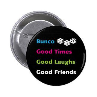 bunco good friends #2 pinback button