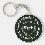 bunco good friends basic round button keychain