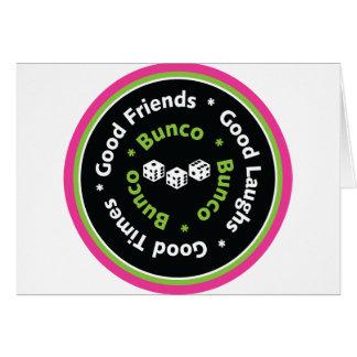 bunco good friends cards