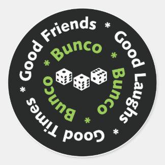 bunco good friends classic round sticker