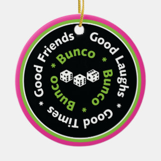 bunco good friends Double-Sided ceramic round christmas ornament