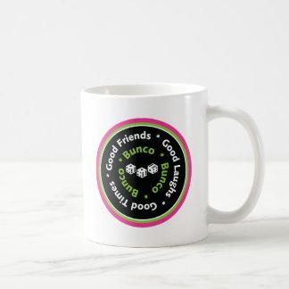 bunco good friends classic white coffee mug