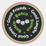 bunco good friends round stickers