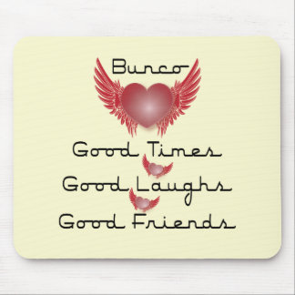 bunco good times with heart and wings mouse pad