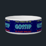"""bunco gossip candy dish<br><div class=""""desc"""">Bunco Gossip candy dish will be a nice addition for your snacks at your next Bunco event. Fill with nuts, candies and other treats. Great prize or gift. Fun I Play Bunco For The Gossip So Start Spilling&quot; design. Use in your office to collect paperclips or other items. Look for...</div>"""