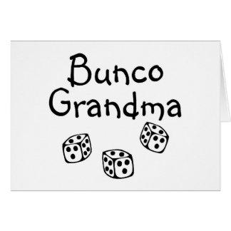 Bunco Grandma Card