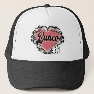bunco heart tattoo trucker hat