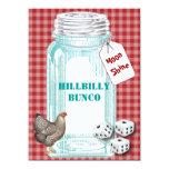 Bunco Hillybilly Style or Country Style 5.5x7.5 Paper Invitation Card