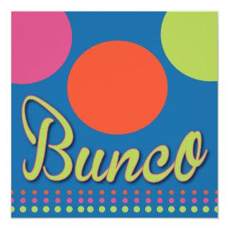 Bunco Invitation With Dots