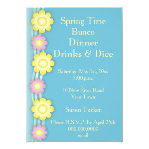 Bunco Invitations Announcements Zazzle