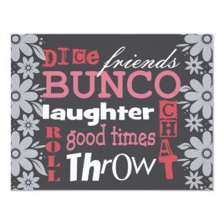 """Bunco Invite 4.25"""" X 5.5"""" Invitation Card"""