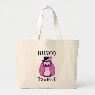 """Bunco - It's A Hoot"""" Large Tote Bag"""