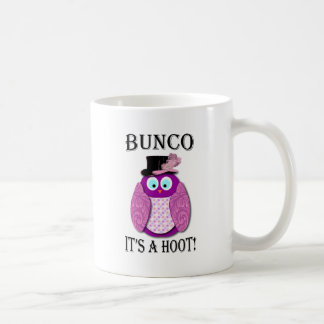 "Bunco - It's A Hoot"" Classic White Coffee Mug"