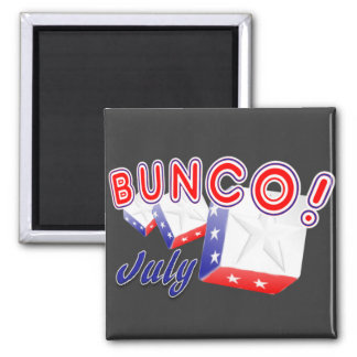 bunco july 2 inch square magnet