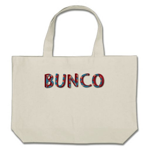 Bunco letters with bunco dice bag