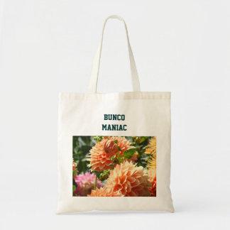 Bunco Maniac Tote Bags Dahlia Flowers Florals