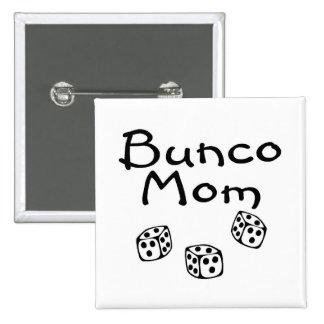 Bunco Mom 2 Inch Square Button