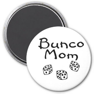 Bunco Mom 3 Inch Round Magnet