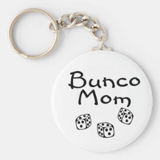Bunco Mom Basic Round Button Keychain