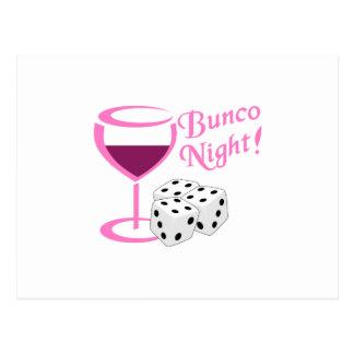 Bunco Night Postcard
