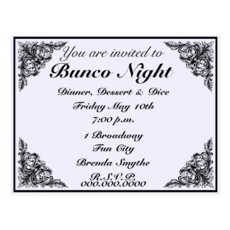 Bunco Night Vintage Victorian Invitation Postcard