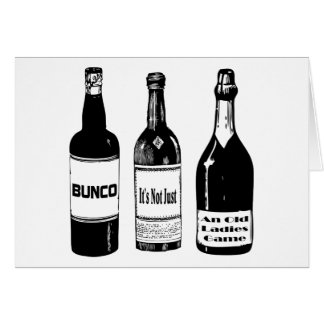 Bunco Not Just An Old Ladies Game Card