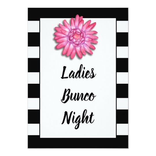 Bunco Or Bunko Girls Night Out Dice Game Party Invitation Zazzle Com
