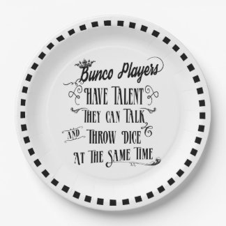 Bunco Paper Plates - Bunco Players Hav Talent