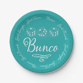 Bunco Paper Plates 7 Inch Paper Plate
