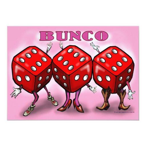 """Bunco Party Invitation 5"""" X 7"""" Invitation Card   Zazzle"""