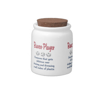 Bunco Player -Definition Candy Jars