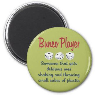 Bunco Player -Definition 2 Inch Round Magnet