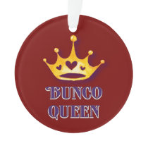 Bunco Player Queen Ornament