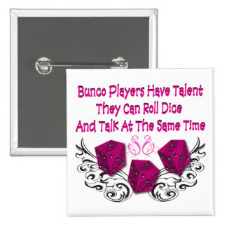 bunco players have talent #2 2 inch square button