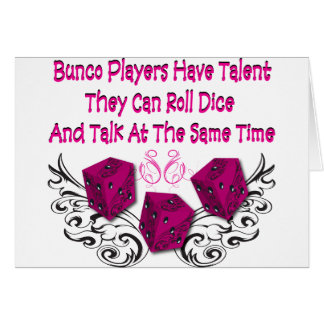 bunco players have talent #2 card