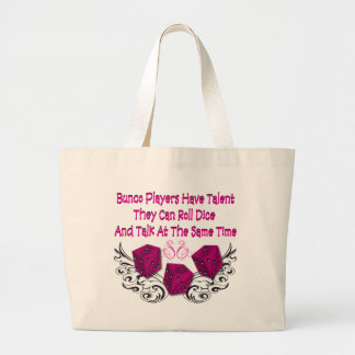 bunco players have talent #2 large tote bag
