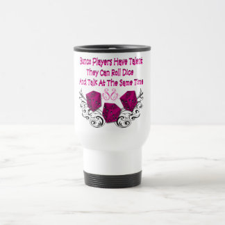 bunco players have talent #2 15 oz stainless steel travel mug