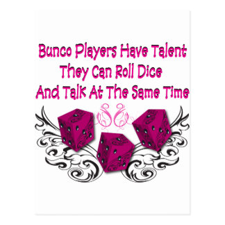 bunco players have talent #2 postcard