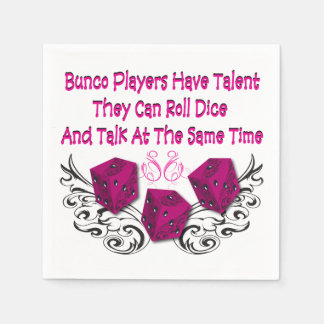 Bunco Players Have Talent by Artinspired Paper Napkin